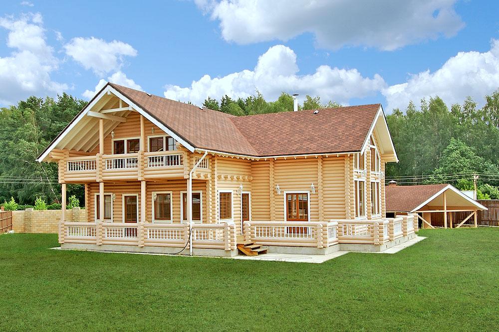 Коттеджи дома деревянные фото